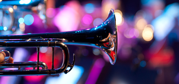 trumpet played by a musician