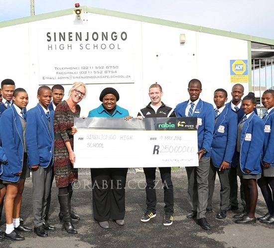 Donated by Rabie Property Group and Fives Futbol